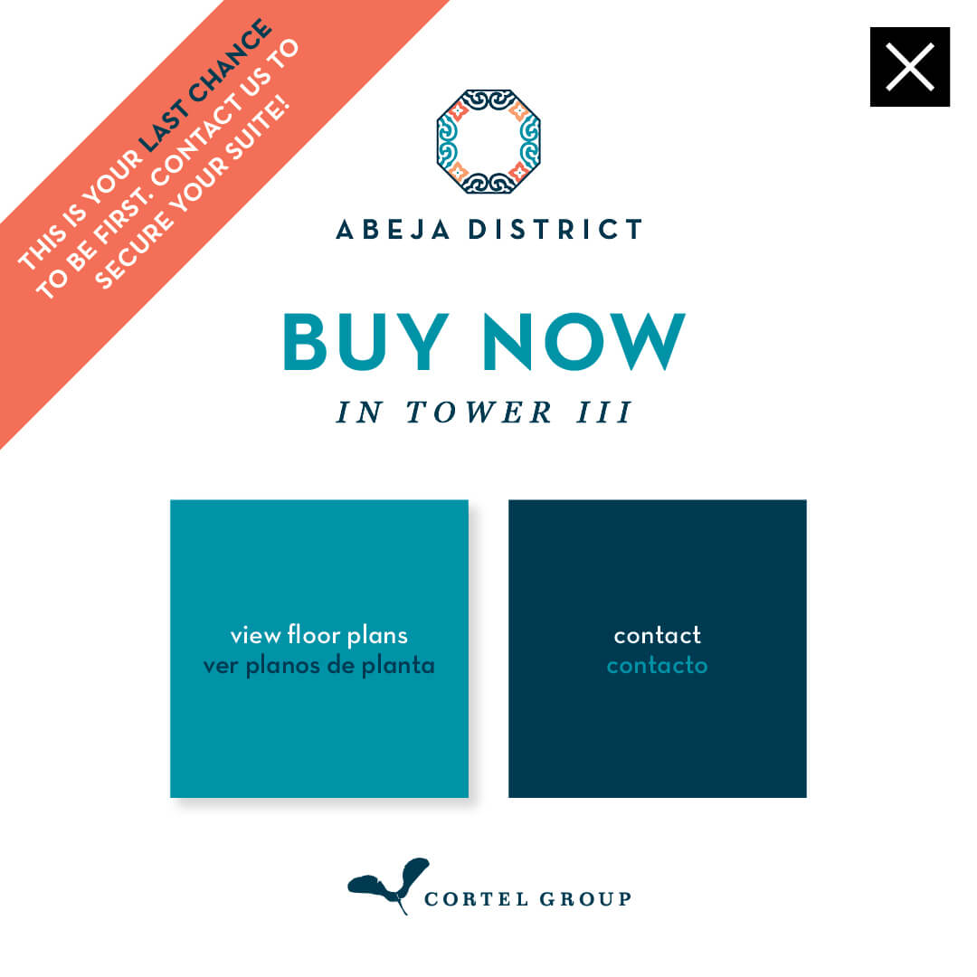 Abeja District Sales Centre Open by Appointment Only. If you are interested in a new condo at Abeja District, call or e-mail to book your appointment. sales@abejadistrict.com. 906-597-7877. New Sales Centre Location: 2901 Rutherford Road, Vaughan. Please note, if you do make an appointment, we ask that you wear gloves and a mask. Cortel Group.